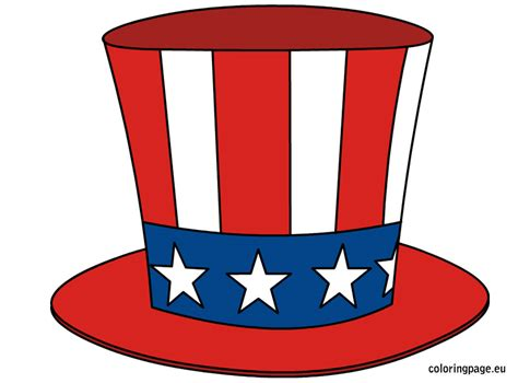 uncle sam s hat coloring page