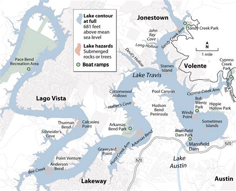 map of lake travis texas lake travis levels