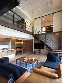 two story penthouse in taiwan displaying contemporary