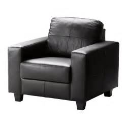Leather Sofa Chair Skogaby Chair Glose Bomstad Black Ikea