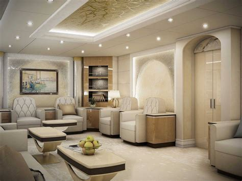 Private Dining Room inside of boeing 747 8 private jet aviation blog