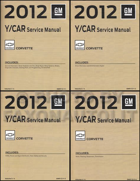automotive repair manual 2012 chevrolet corvette engine control 2012 chevrolet corvette repair shop manual original 4 volume set