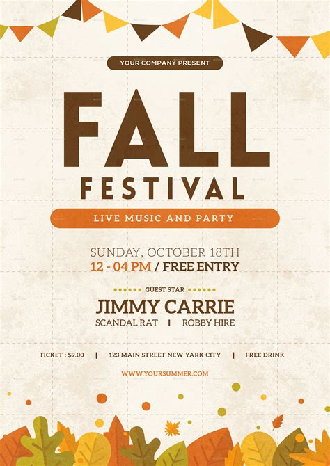 fall festival flyer by tokosatsu graphicriver