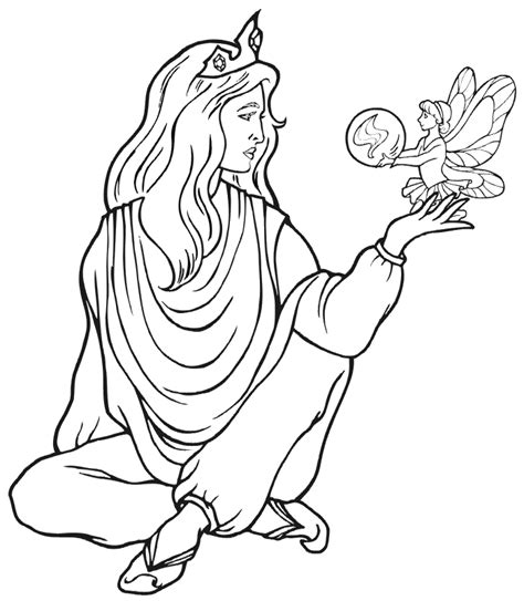 coloring pages princess fairies fairy princess coloring page az coloring pages