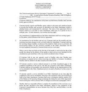 Free Service Agreement Contract Template by 14 Service Agreement Templates Free Sle Exle