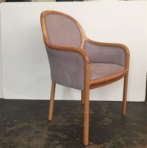 Suede Dining Room Chairs Set Of Six Pigskin Suede Dining Chairs By Ward For Brickel For Sale At 1stdibs