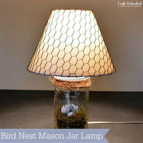 mason jar l shade diy l bird nest mason jar l tutorial