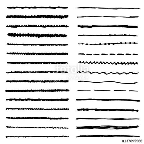 illustrator draw zigzag quot wavy curly dotted straight and zigzag hand drawing
