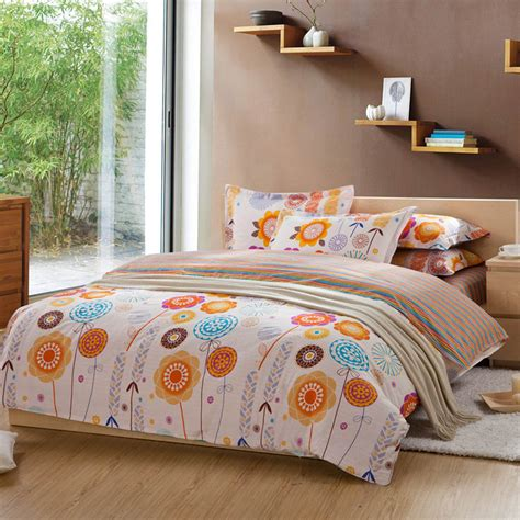 sprei set flowy big murah bunga bed cover set 4 pcs bunga tidur set dengan