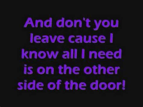 The Other Side Of The Door Lyrics better than