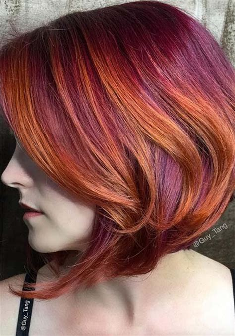 how to add colour chunks to hairstyles 25 best ideas about burgundy hair colors on pinterest