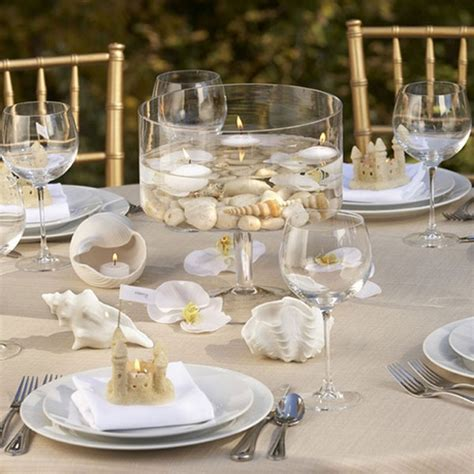 Table Settings For Weddings Sea Inspired Table Setting And Ideas For Your Themed