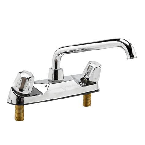 8 kitchen faucet 8 quot two handle kitchen faucet tubular spout
