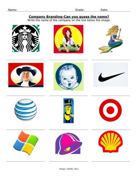 printable logo quiz game innovation design in education aside july 2011