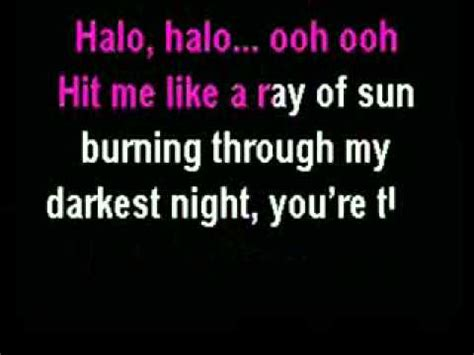 lyrics karaoke beyonce halo karaoke instrumental with lyrics