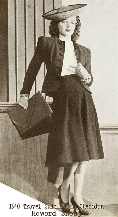 Jaket Amrik Ccos 1940 fashion sophisticated day suits glamourdaze