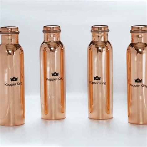 100 Copper Bottle by Copper Water Bottle Set Of 4 Kopperking