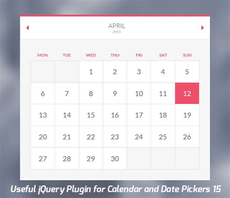Jquery Calendar 15 Useful Jquery Plugin For Calendar And Date Pickers