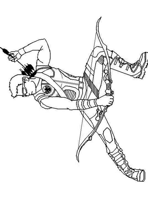 Coloring Pages Hawkeye Www Imgkid Com The Image Kid Hawkeye Coloring Pages
