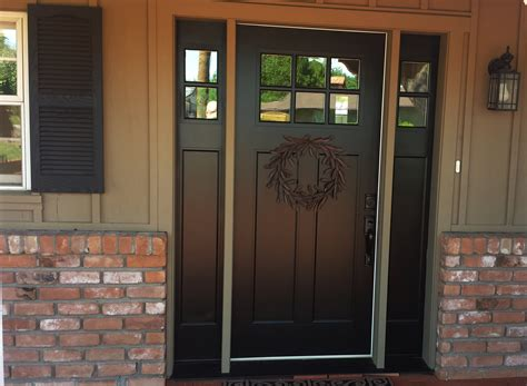 Exterior Side Door With Window Replacing Mahogany Door With Fiberglass Door With Two