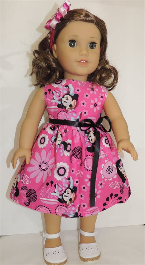 Handmade Doll Clothes - american doll clothes handmade minnie mouse dress