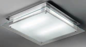 modern square glass fluorescent kitchen ceiling light cf5636el
