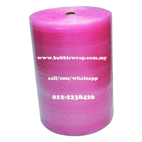 Spesial Buble Wrap Packing antistatic wrap pink 1m x 100m plastic packaging