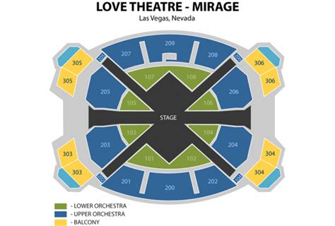 beatles theater seating chart beatles show preview reviews exploring las vegas