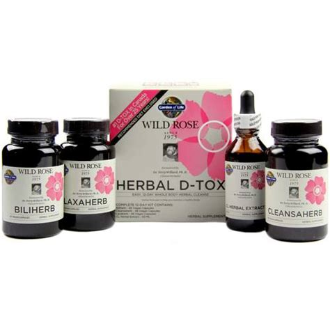 Puriclean X2 Detox Review by Garden Of Herbal D Tox 1 Kit Evitamins