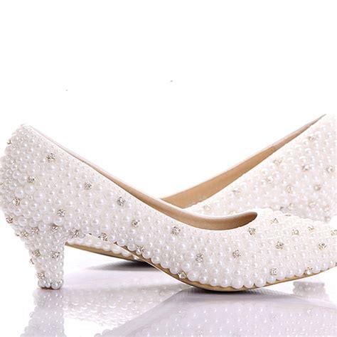 Wedding Shoes Small Heel 2015 custom make large size small heel bridal wedding