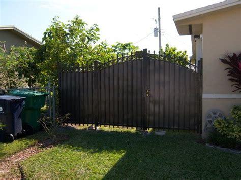 black metal fence gate privacy google search backyard