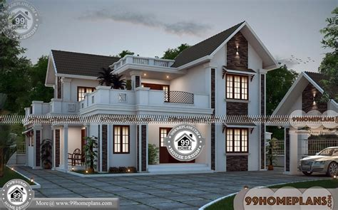 wide lot house plans    double story house plans