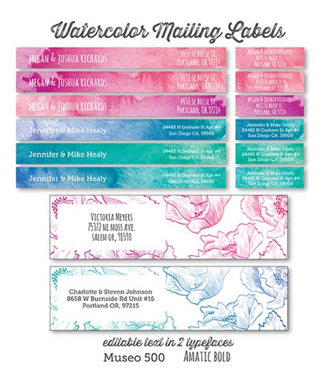 Printable Watercolor And Floral Address Labels Lia Griffith Free Return Address Label