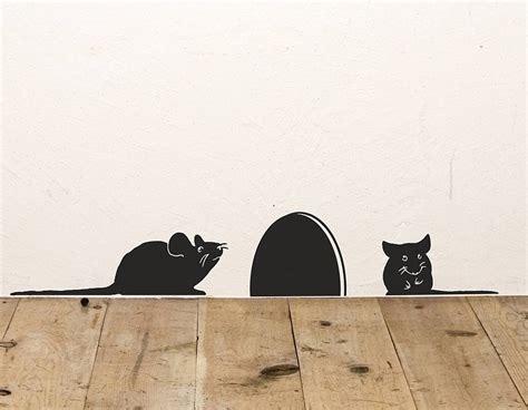 vinyl wall stickers mice vinyl wall sticker contemporary wall stickers