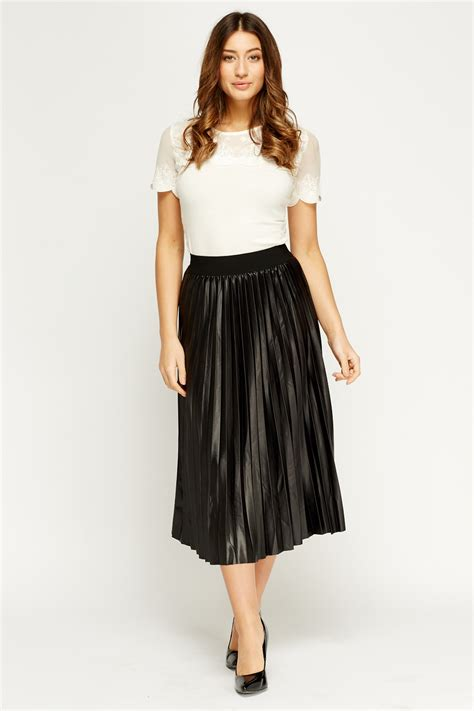 pleated high waisted midi skirt 3 colours just 163 5