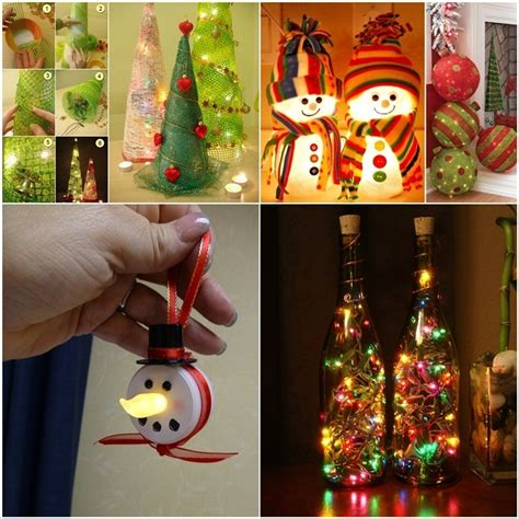 christmas decorations you can make at home 13 lighted christmas decorations that you can make