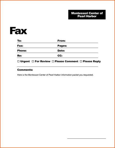 doc 717456 fax cover sheet template bizdoska com