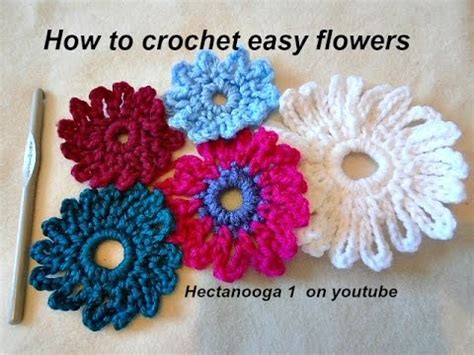 simple crochet flower pattern youtube how to crochet an easy crochet flower 6 chain flower