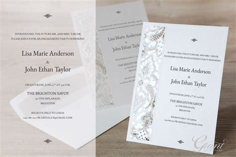 fun engagement party invitations themed engagement party