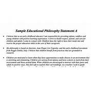 Personal Philosophy Statement Of Early Childhood Education