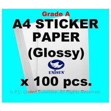 Kertas Stiker Kertas Sticker Glossy Dataprint High Quality New a4 paper price harga in malaysia kertas