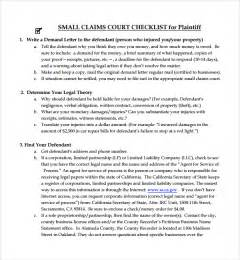 Court Brief Template by Sle Summary Template 9 Free Documents