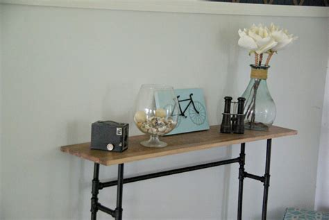diy console table pipe legs how to build a rustic table using galvanized pipes
