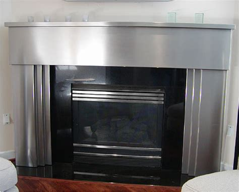 stainless steel fireplace surround neiltortorella