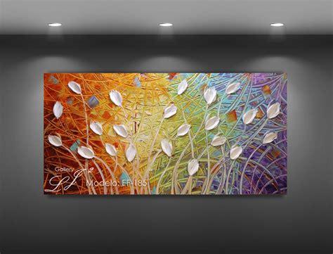 cuadros pintados a espatula cuadros al 211 leo con esp 225 tula 100 a mano flores arte