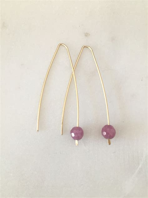 Modern Handmade Jewelry - modern ruby earrings handmade jewelry by jewelry