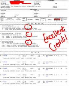 Good Report Sample Secondary Credit Number Good Credit Union