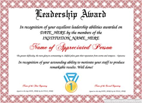certificate of leadership template 100 collection of free certificate templates xdesigns