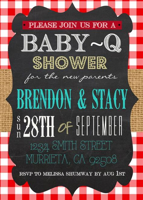 free baby q invitations templates co ed baby shower planning baby q