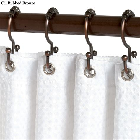 shower curtains hooks double roller shower curtain hook set